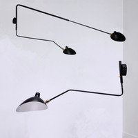 Long Arm Vintage Black Wall Lamp E27 E14 Up and Dwon Rotatable Lamp LED Wall Bedside Light for Bedroom Living room Reading LED