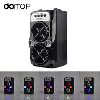 DOITOP New Outdoor Bluetooth Wireless Speakers Portable SD Card FM Radio USB Charge Stereo Dual Speaker