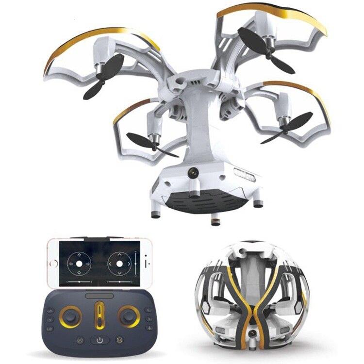 Date Pliable En Forme D'oeuf Mini Drone avec 0.3MP Caméra Wifi FPV 6 Axes Gyro Maintien D'altitude Sans Tête Télécommande Quadcopter