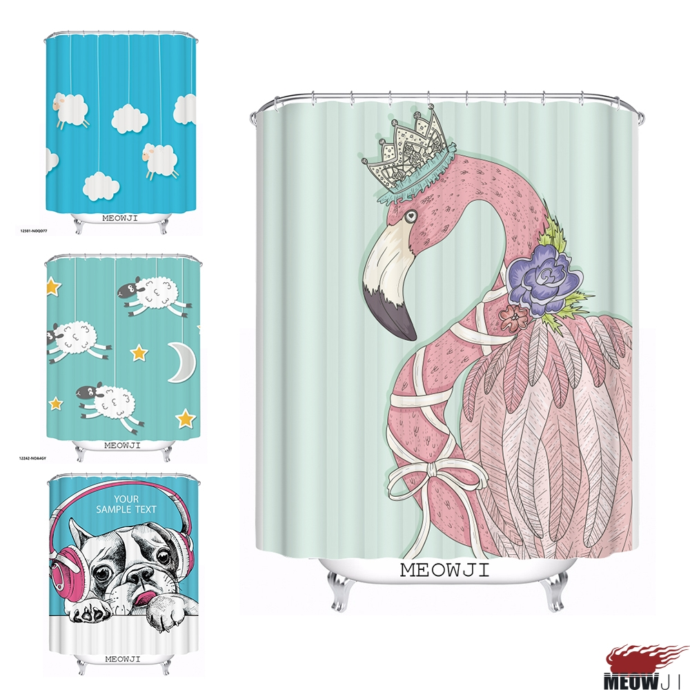 Mustache shower curtain - Lovely Cute Animal Dog Sheep Cartoon Custom Shower Curtain Bathroom Decor Various Sizes Free Shipping