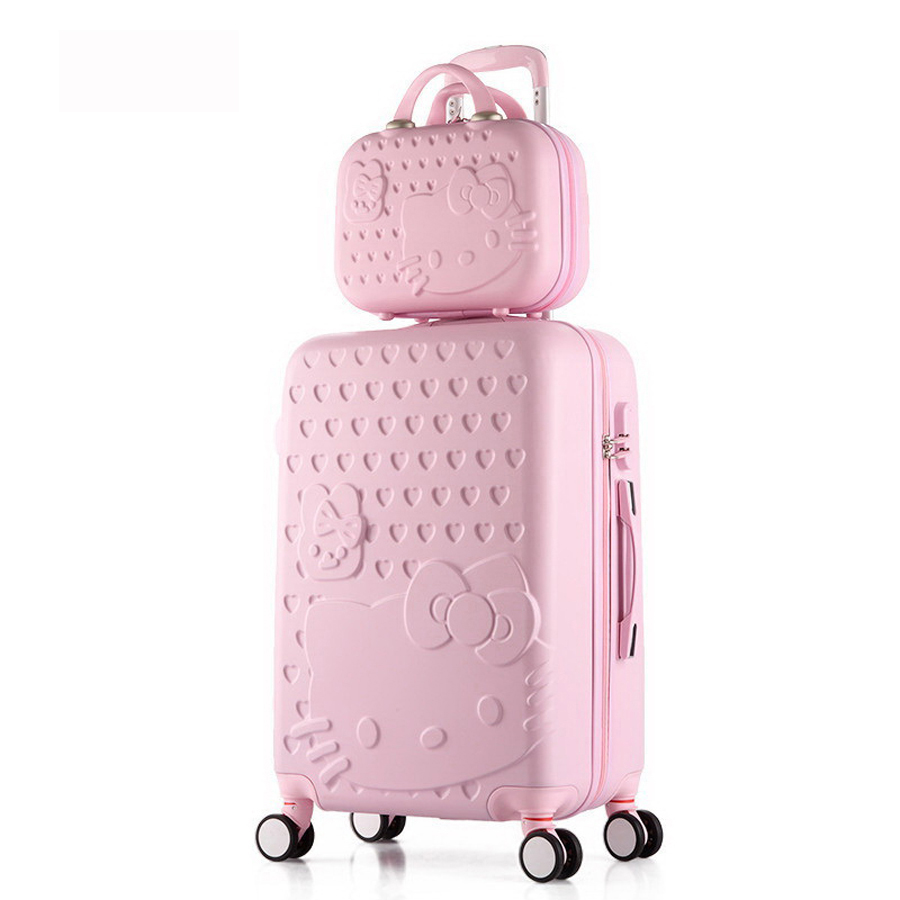 20inch sets High quality Trolley suitcase luggage traveller case box Pull Rod trunk rolling spinner wheels ABS+PC boarding bag 20 24 inch braccialini harajuku fairy girl trolley suitcase rolling spinner wheels pull rod luggage traveller case boarding bag