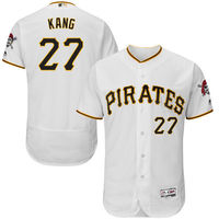 MLB Men S Pittsburgh Pirates Jung Ho Kang Baseball Home White Flex Base Authentic Collection Player