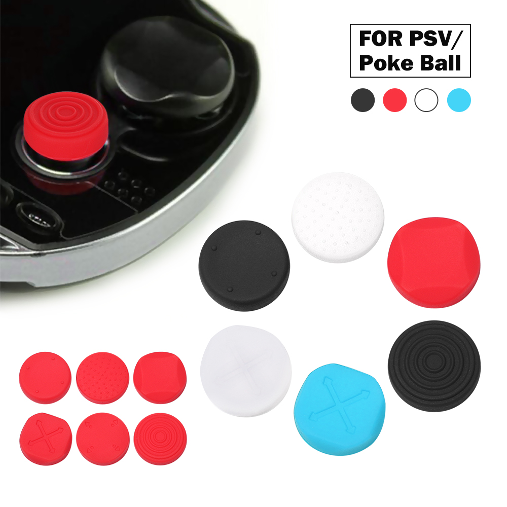 6 In 1 Silicone Thumbstick Grip Cap Joystick Analog Protective Cover Case For <font><b>Sony</b></font> PlayStation Psvita <font><b>PS</b></font> <font><b>Vita</b></font> PSV <font><b>1000</b></font>/2000 Slim image