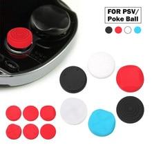 Capa analógica de joystick para polegar, 6 peças, capa protetora para playstation, psvita, ps vita, 1000/2000 slim