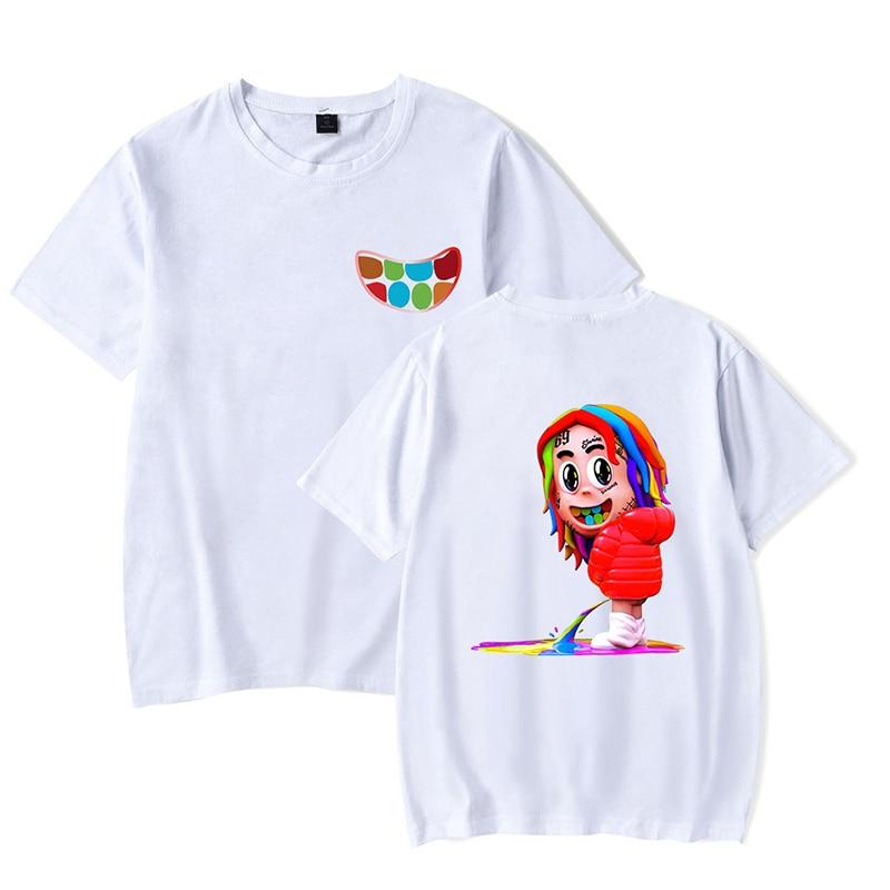 Latest Fashion Hip Hop Street Style 6ix9ine Funny T-shirts Summer Sport Men Women T Shirts Casual Tee Shirt Short Sleeve T-shirt