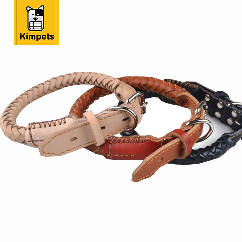 High quality leather dog collar cool collars for dogs
