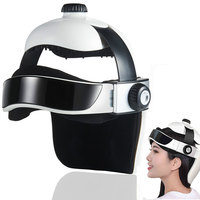 Head Massager Electric Heating Masage Improve Sleep Relieve Fatigue Headache Brain Relax Multifunction Massage Helmet with Music