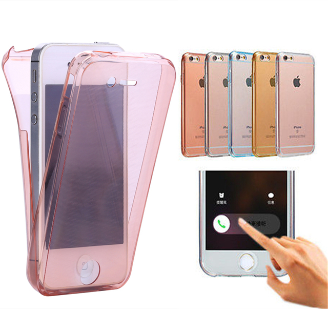 best loved 63786 b92f0 US $1.99 5% OFF 4s Crystal Touch Full body Transparent Case for Apple  iPhone 4 4s Cover Soft 360 Silicone Phone bag Cases for iPhone4 iPhone4s-in  ...