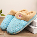 2016 New Rural Style Autumn&Winter Linen Warm Soft Plush Ladies Cotton-padded Antiskid Thickening At Home Slippers Indoor Shoes