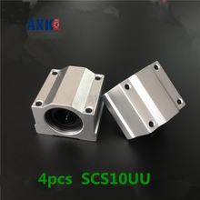 2019 Axk Free Shipping 4pcs Sc10uu Scs10uu Linear Motion Ball Bearings Slide Block Bushing For 10mm Shaft Guide Rail Cnc Parts 1pcs lm100uuop open type linear ball bearings linear motion bushing bearings cnc parts linear guide 100x150x175mm