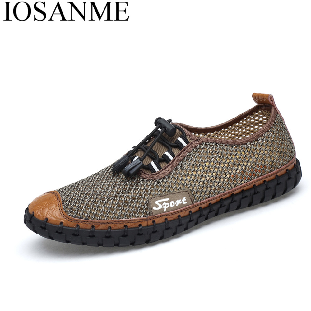 male shoes adult men casual air mesh breathable fashion shoes luxury brand summer moccasins designer folding leisure footwear