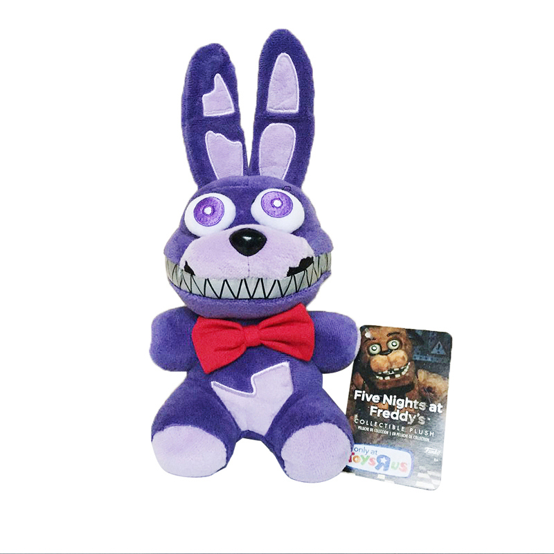 New Arrival 18cm Five Nights At Freddy's 4 FNAF Nightmare Bonnie Rabbit Plush Toys Soft Stuffed Animals Toys Doll for Kids Gifts plush ocean creatures plush penguin doll cute stuffed sea simulative toys for soft baby kids birthdays gifts 32cm