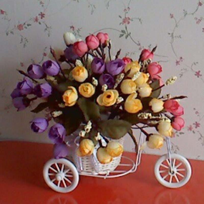 Handmade Flower Vase Bikecyclebike Flower Basket Home Decoration