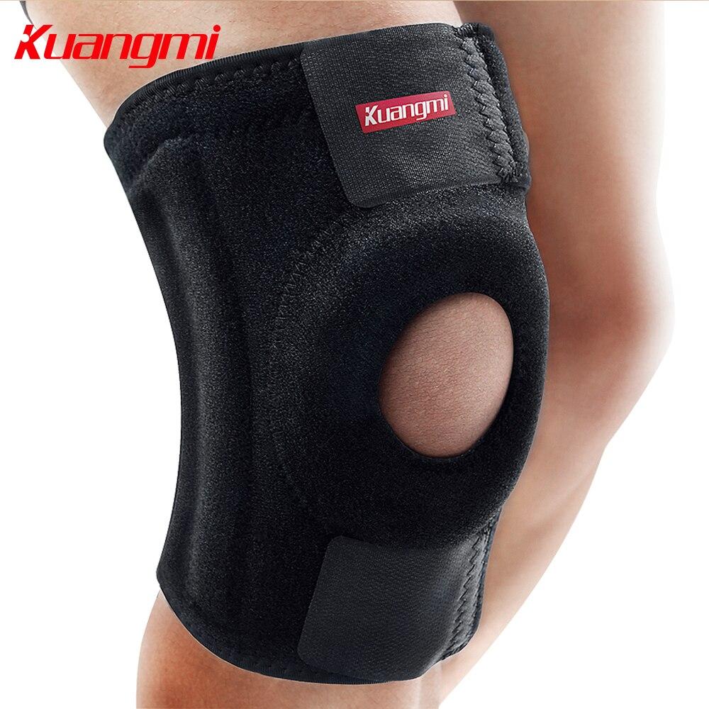 Kuangmi 1 st Veren Neopreen Ademend Kniesteun Verstelbare Knie - Sportkleding en accessoires