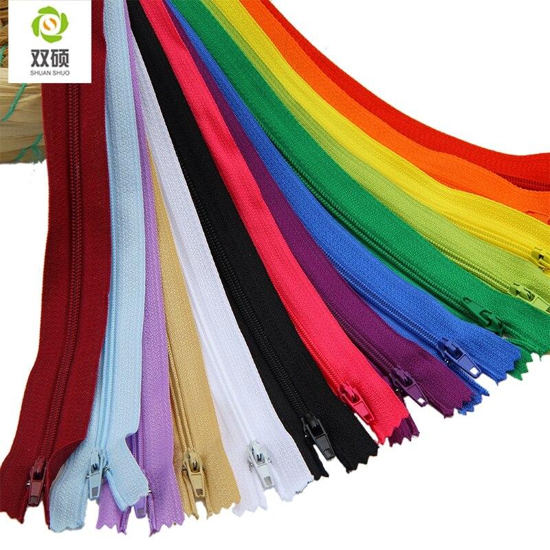 Шуан shuo/20 см Длина закрытых нейлон молния для Вышивание Мотобрюки DIY сумки пенал и Craft 14 шт./пакет