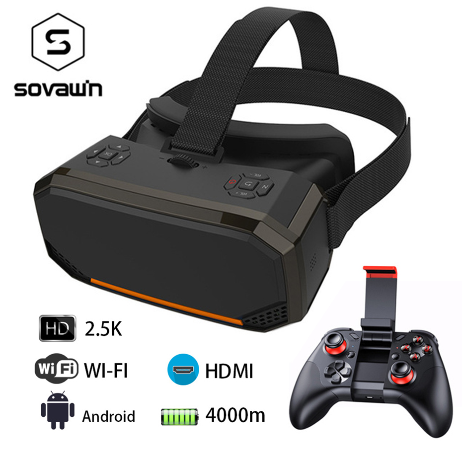 VR All In One Glasses RK3288 Quad Core 3G RAM 16G 5.5 inch 2.5K 2560*1440 Display 3D Glasses Wifi VR Virtual Reality PC Glasses caraok v12 android 4 4 all in one 3d vr virtual reality glasses allwinner h8 quad core 2g 16g support wifi bluetooth otg f19631