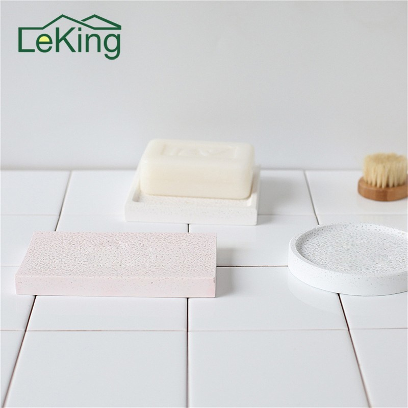 Creative handmade Ingredients soap dish diatomite soap holder soapbox draining rack shower tray Bathroom accessories draining soap dish with lid