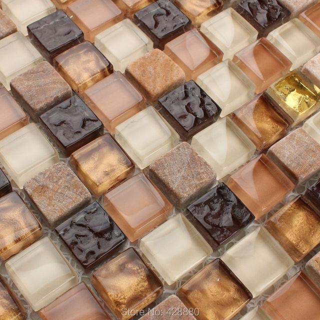 ice crack mattonelle di mosaico di vetro backsplash della cucina ...