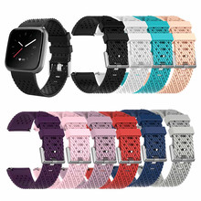 Replacement Porous Silicone Sports Wristband for Fitbit Versa/Lite Smart Watch Quick Release Band Bracelet Watchband Strap
