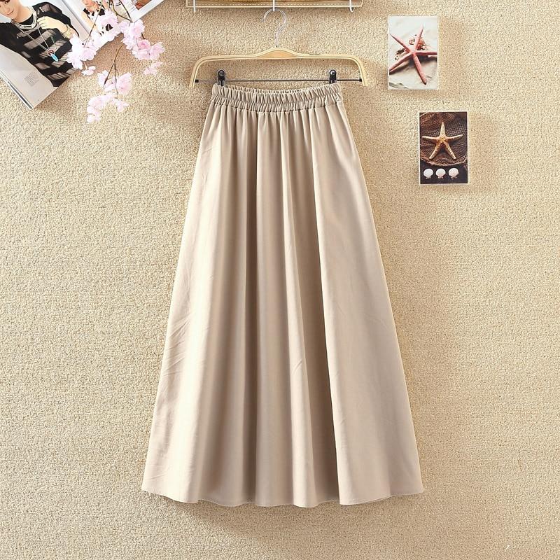 2019 Summer Women Long Skirts Vintage Cotton And Linen High Waist Women Skirts Saia Summer Skirt Womens Jupe Femme Saias Faldas