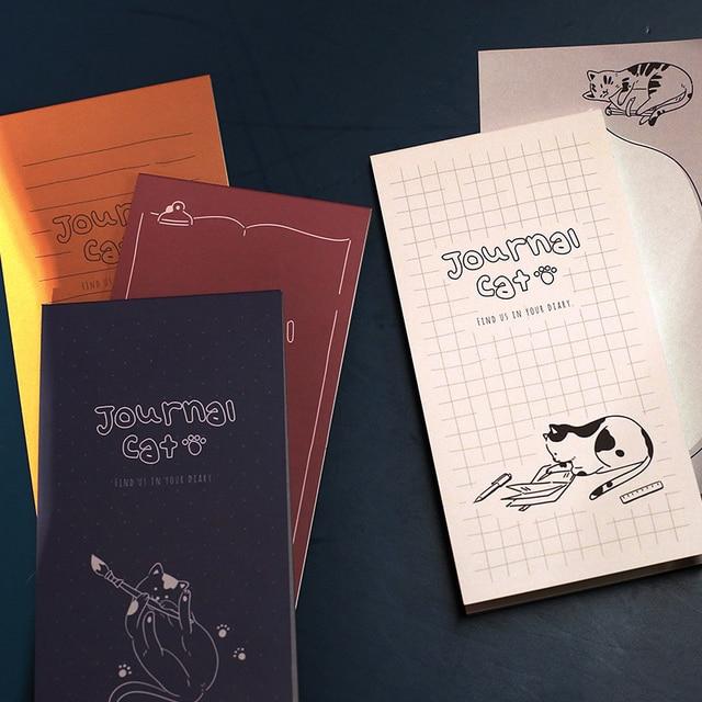 Kawaii Cute Cat Memo Pad Word Pocket Book Weekly Planner List Notepad