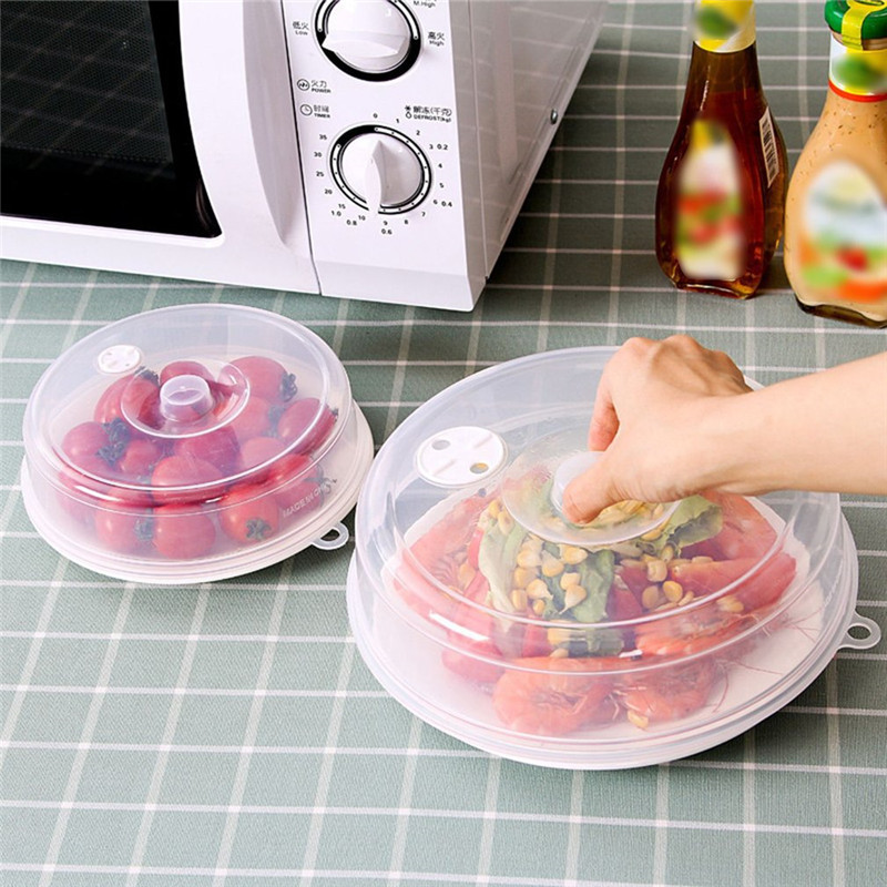 Splatter-Cover-Lid Sealing-Disk-Cover Microwave Steam-Vents Universal With Stackable
