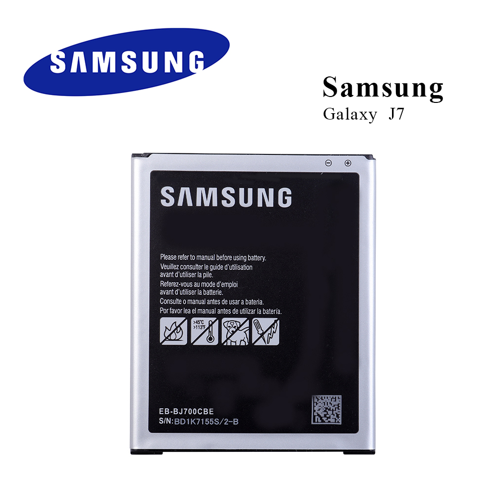 New Original Battery EB-BJ700BBE for <font><b>Samsung</b></font> <font><b>Galaxy</b></font> <font><b>J7</b></font> SM-<font><b>J700</b></font> Duos 3000mAh Li-ion NFC EB-BJ700BBU With Tracking image