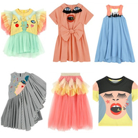 2019 INS HOT KIDS DRESSES GIRLS FASHION PARTY DRESSES EVENING DRESSES FOR GIRLS BABY GIRL CLOTHES GIRLS CLOTHING SETS vestidos