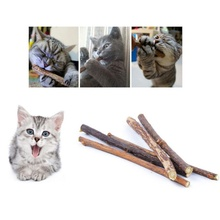 Pure Natural Catnip Pet Cat Natural Wooden SilverVine Rod Stick Cat Cleaning Teeth Cat Pet Supplies