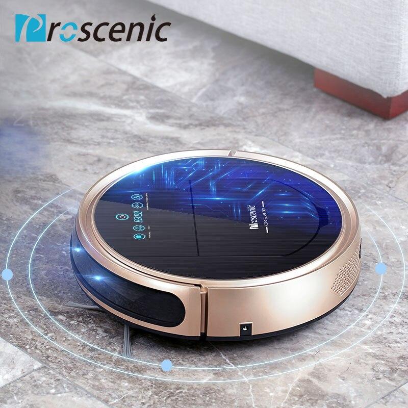 Proscenic Aspirador de pó robótico 790 T Varredura Vacuum Mop 3 em 1 Robot Vacuum Cleaner para Pêlos de Animais Wi-fi Ligado 1200 Pa