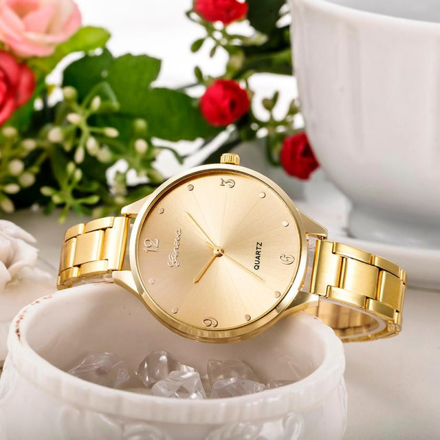 Fashion Women Crystal Stainless Steel Analog Quartz Wrist Watch Relogio Feminino Women Watches Reloj Mujer Bayan Kol Saati