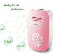 801 Pink Home and Office Mini Air Purifier Portable Negative Ion Generator Air Cleaner, Home sterilizer 110V/220V ionizer