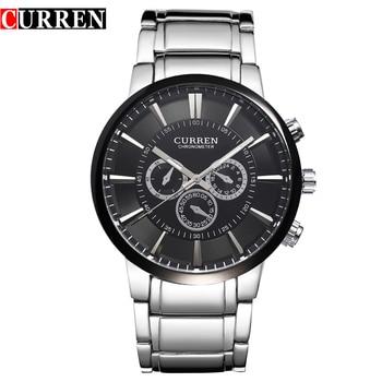 Top Luxury Brand CURREN Simple style Classic Quartz Wrist Watches Full Steel Waterproof Men's Watch Sports Male Clock - discount item  44% OFF Men's Watches