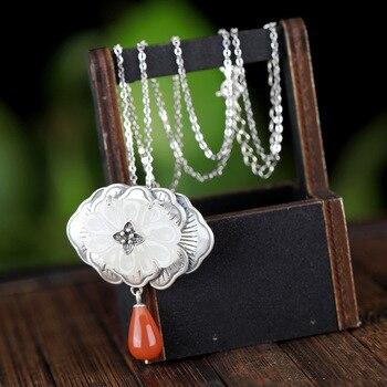 inlay hetian jade south red pendant brooch amphibious temperament female accessories wholesale restoring ancient ways