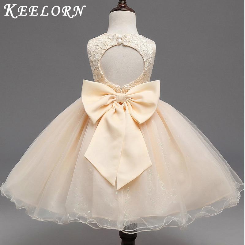 Keelorn Kids Girls Flower Dress Baby Girl Butterfly Birthday Party Dresses Children Fancy Princess Ball Gown Wedding Clothes keelorn girls dress 2017 autumn winter
