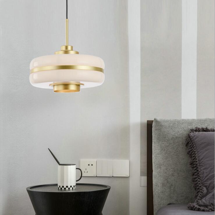 Nordic творческая личность гостиной столовой балкон спальня прикроватная лампа современного искусства стекла обеденный стол бар лампа