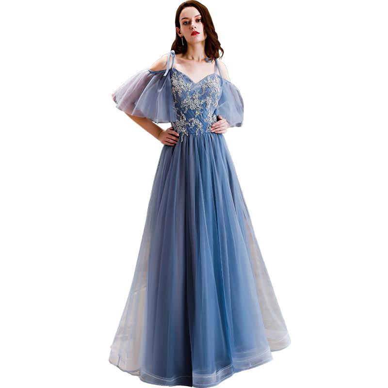 Elegant Long   Evening     Dresses   2019 for Women Plus Size A line Wedding Party Prom   Dresses   Formal Women   Dresses   Long