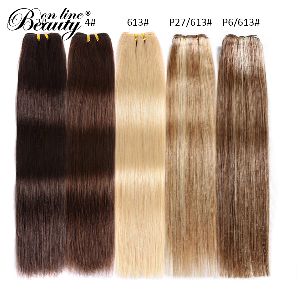 Constructive Beauty On Line Platinum Blond Peruvian Straight Hair Bundles #2 #4 #613 #p27/613 #p6/613 Remy Human Hair Extensions 1piece Only Relieving Heat And Sunstroke Hair Extensions & Wigs