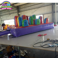 4m*2m Colorful Ring Toss Game Inflatable Ring Toss Inflatable Interactive Throw Ring Challenge Game