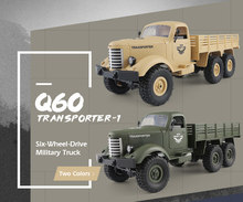 1/16 caminhão rc 2.4g 6wd/4wd rc fora de estrada rastreador caminhão militar do exército carro crianças presente crianças natal/brinquedo de aniversário para crianças