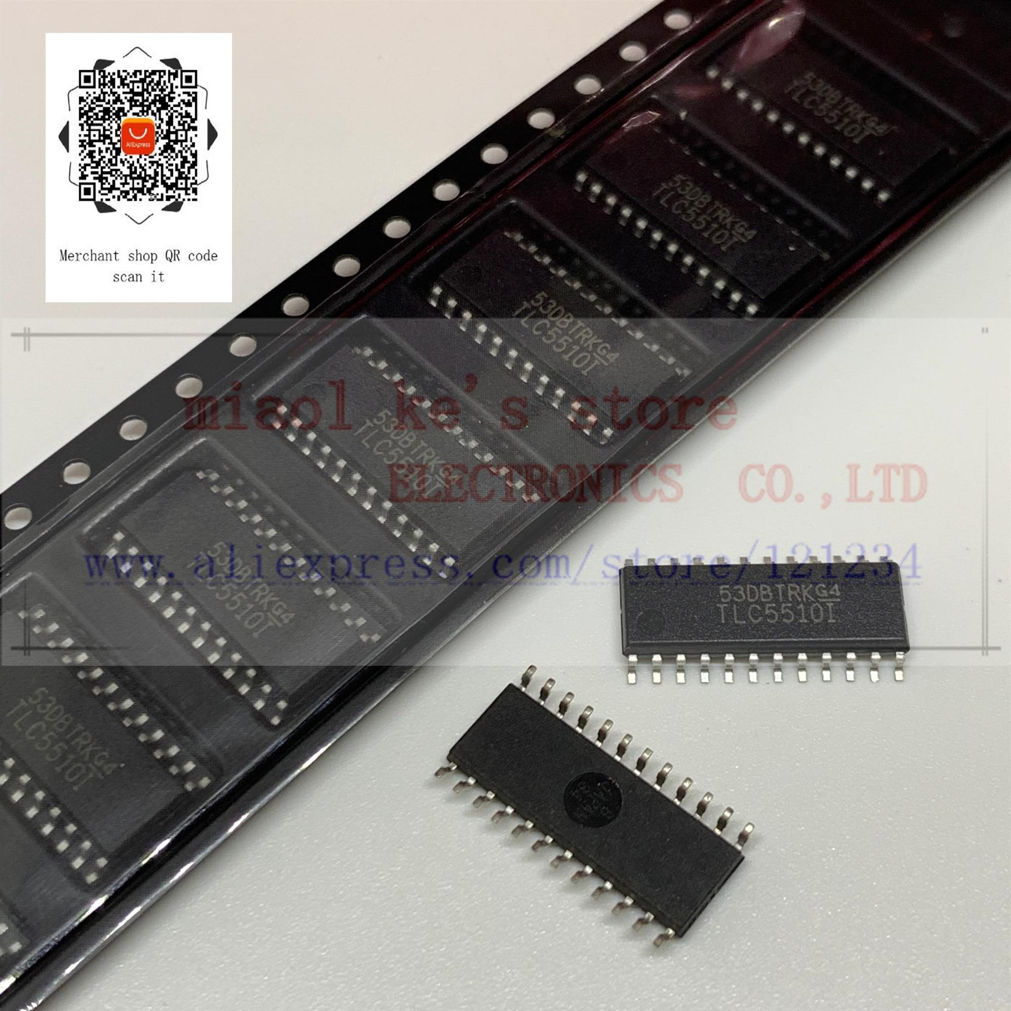 [5 pces-10 pces] 100% novo original; tlc5510insr tlc5510 tlc5510i sop24-ic 8bit 20msps ad sing ch 24so