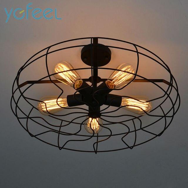 Ygfeel Ceiling Lights Vintage Retro Industrial Fan Lamps American