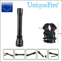UniqueFire Aluminum Alloy Flashlight 1502 Cree XM L2 Led Zoom 5 Modes 1200LM White Light Lamp Torch+Scope Mount For Hunting