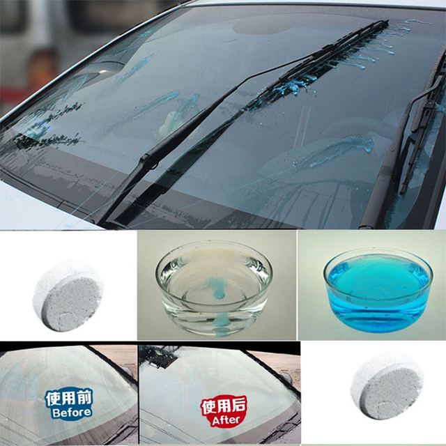 6PCS/Pack(1PCS=4L Water) Brand New Car Solid Wiper Fine Car Auto Window Cleaning Car Windshield Glass Cleaner