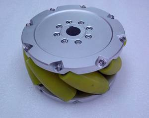 A set of 10inch(254mm) mecanum wheel with PU roller(Load cacipity 1200KG) NM254A