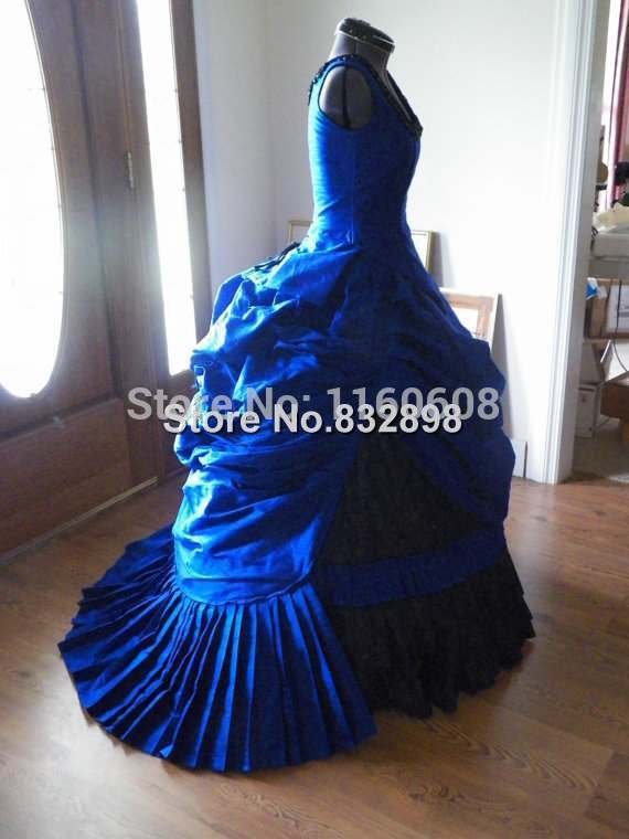 Victorian Steampunk Gothic Mardi Gras Venice Wedding Ball Gown Bustle Dress Reproduction Costume