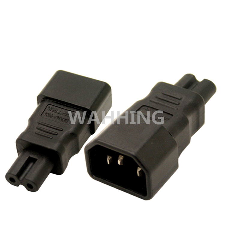 Universal Power Adapter IEC 320 C14 to C7 Adapter Converter C7 to C14 AC Power Plug Socket 3 Pin 2 Pin IEC320 Adapter HY1096 кабель сетевой apc power cord kit 6 ps locking iec 320 c13 to iec 320 c14 10a 208 230v 1 2 m ap8704s ww ap8704s ww