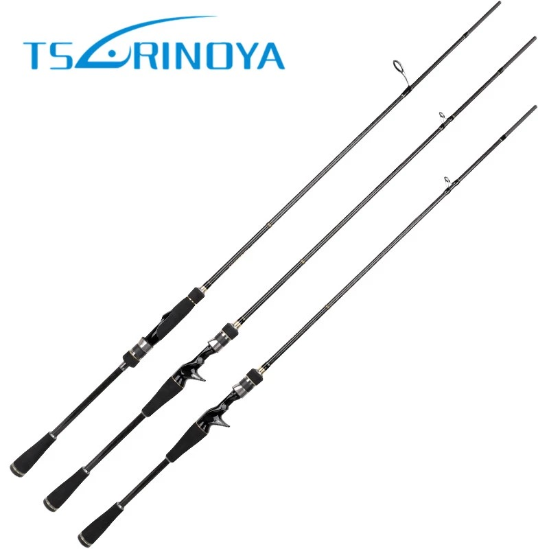 Trulinoya Baitcasting/Spinning Fishing Rod 1.98/2.13m Carbon Fibre And FUJI Accessories Power M Sections 2 Hard Lure Rods olta seaknight trulinoya 2 1m 145g two segments plug bait carbon casting hard spinning lure fishing rod
