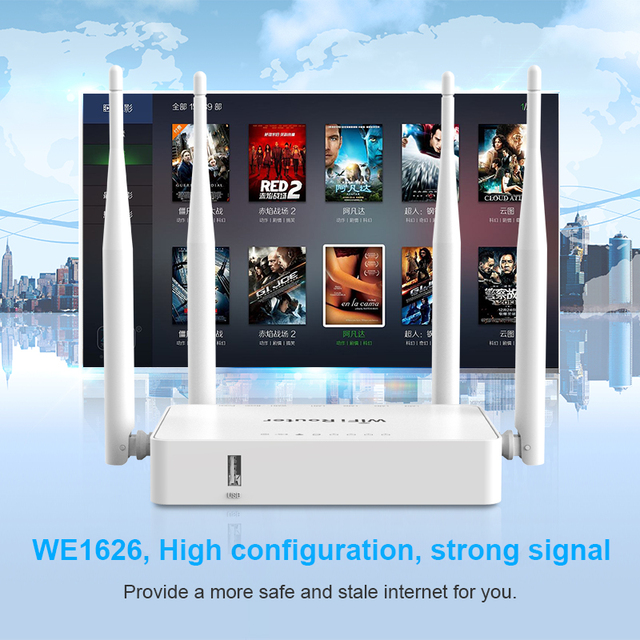 Original WE1626 Wireless WiFi Router For 3G 4G USB Modem With 4 External Antennas 802.11g 300Mbps openWRT/Omni II Access Point 1