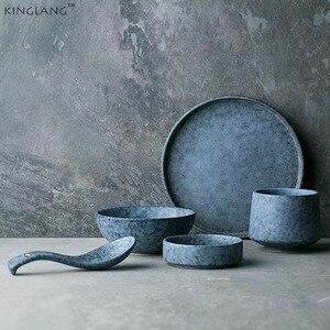 KINGLANG западный стиль керамическая тарелка для соуса миска для риса плоская тарелка для стейка столовая посуда
